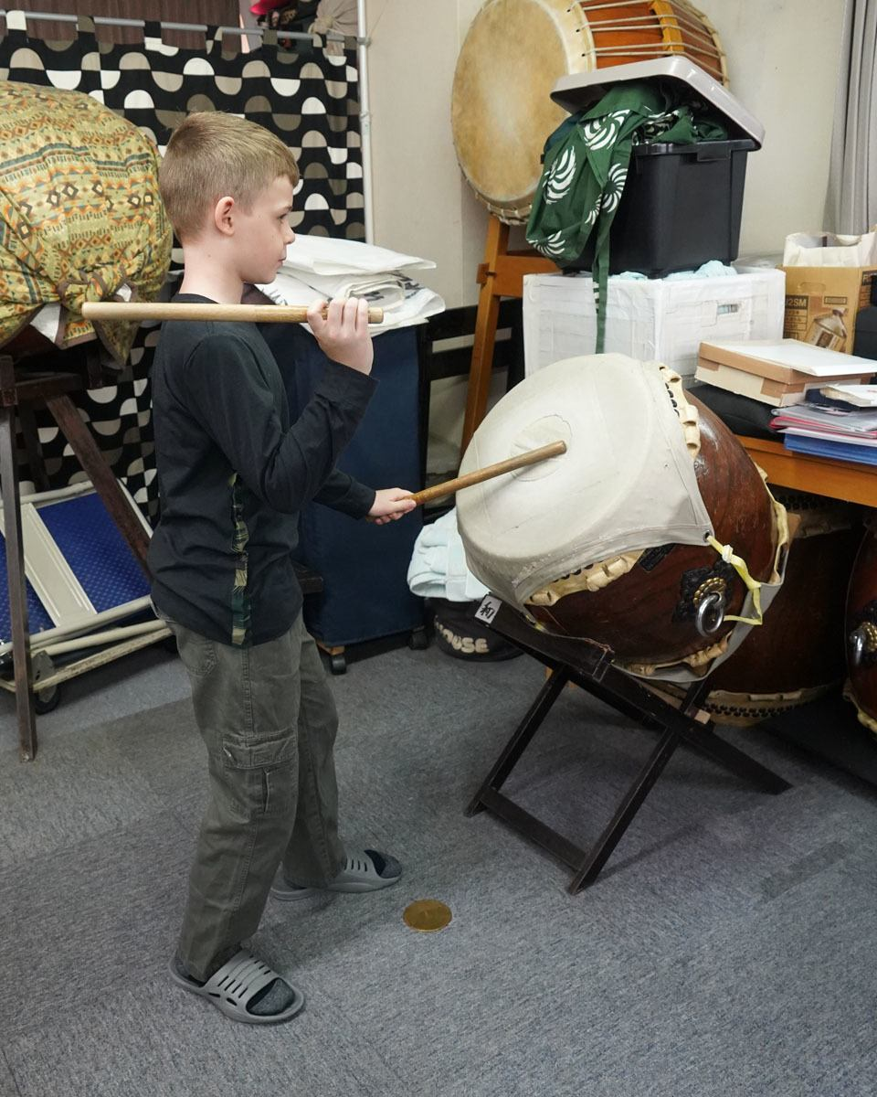 Our youngest taiko drummer