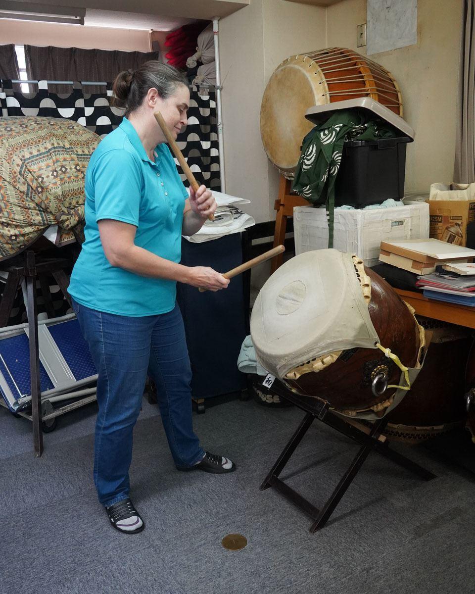Anne the Taiko Drummer