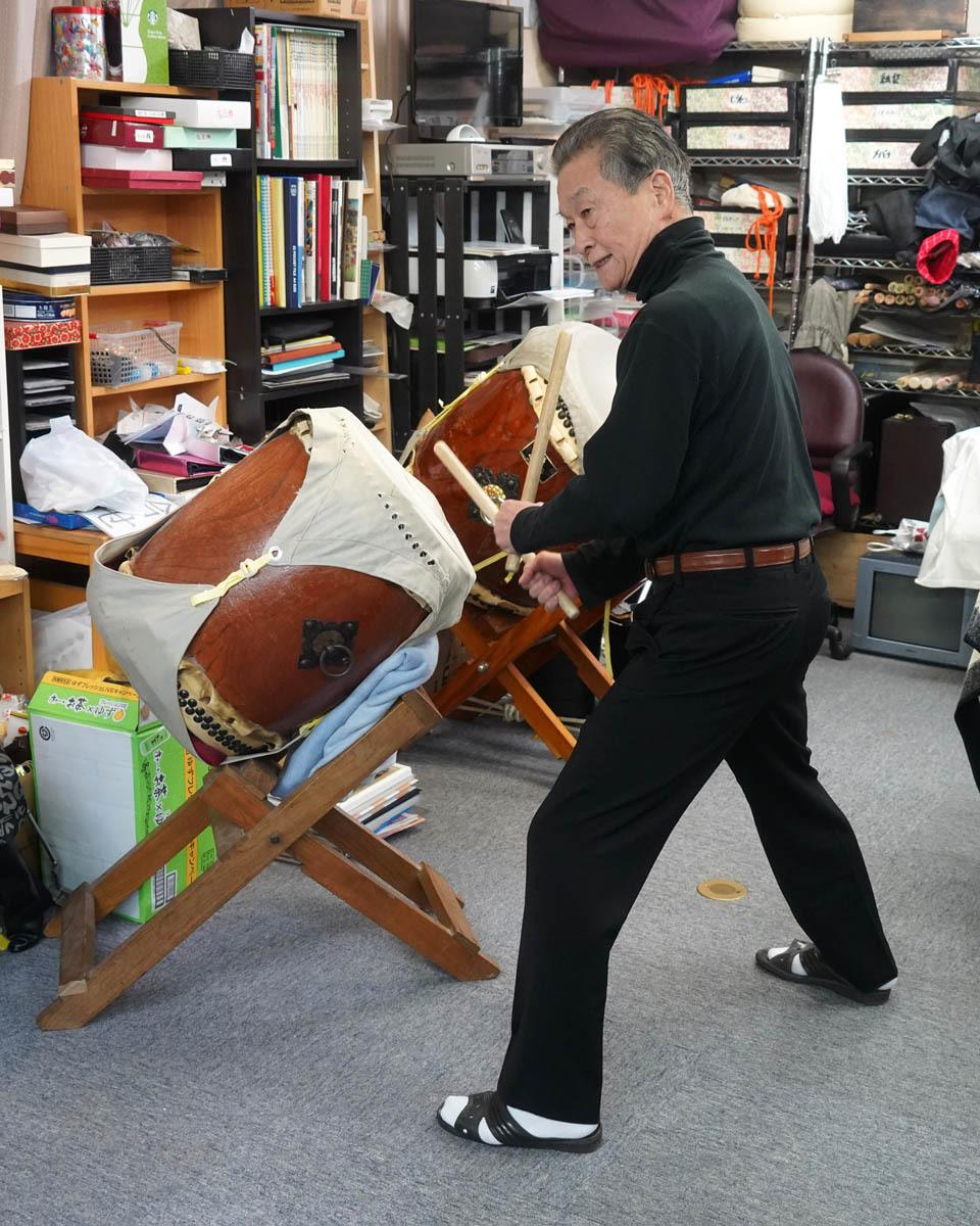 Wide Stance for Taiko Drumming