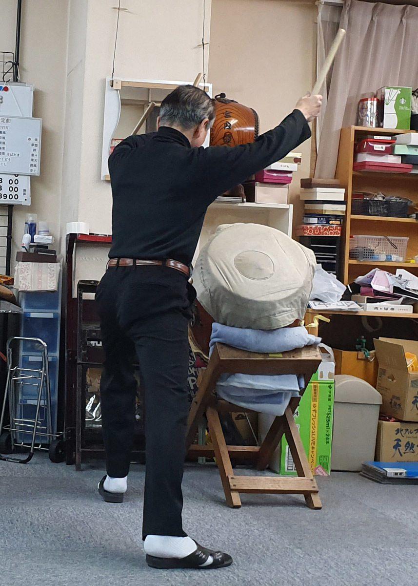 Yukihiro Miyauchi in action