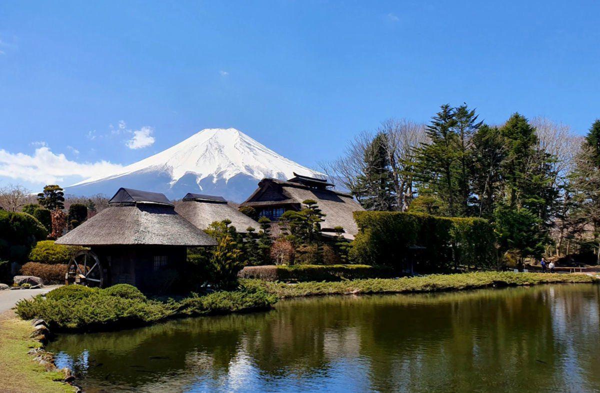 View of Mt Fuji at from Oshino Hakkai Village