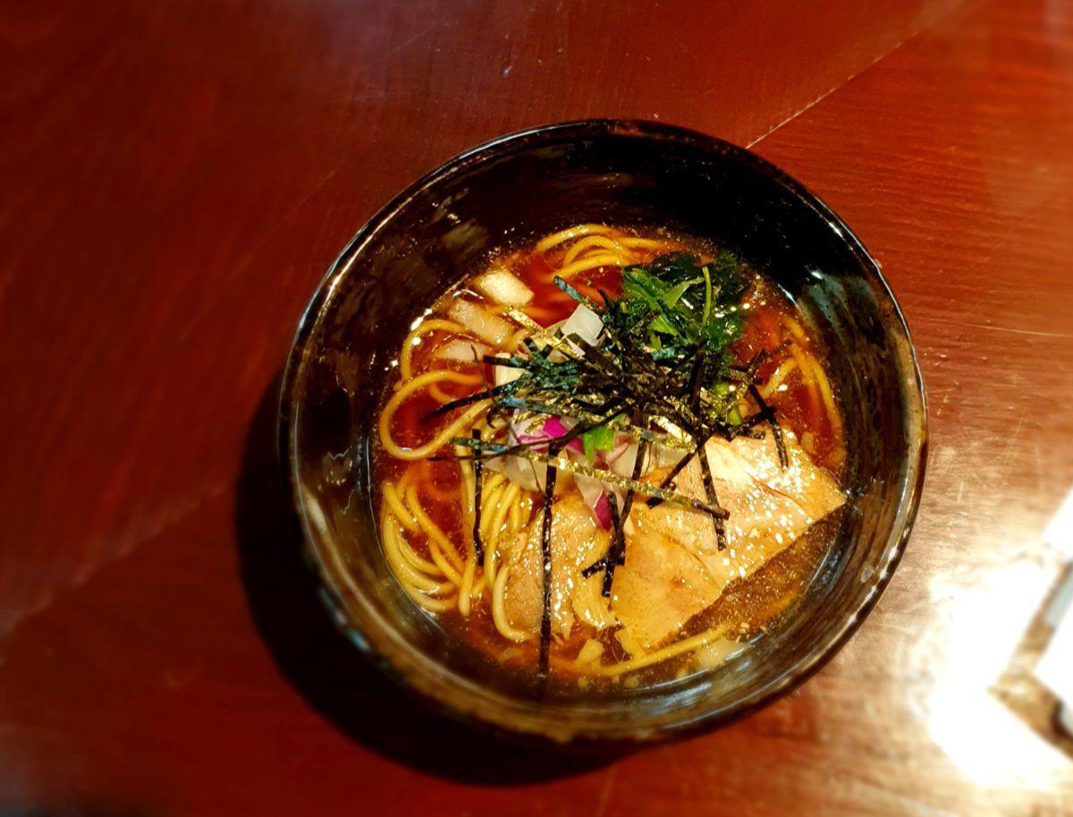 Tokyo Ramen Tour Stop 1 - Niboshi - Shoyu - Dried Fish Ramen in a tangy soy sauce broth