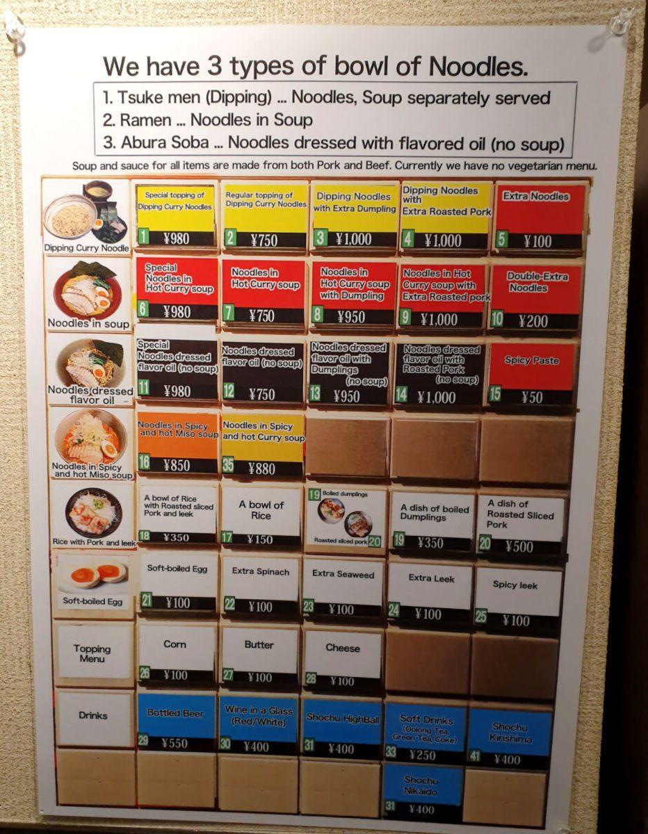 Tokyo Ramen Tour Stop 2 - Ramen Ordering Machine - English Translation