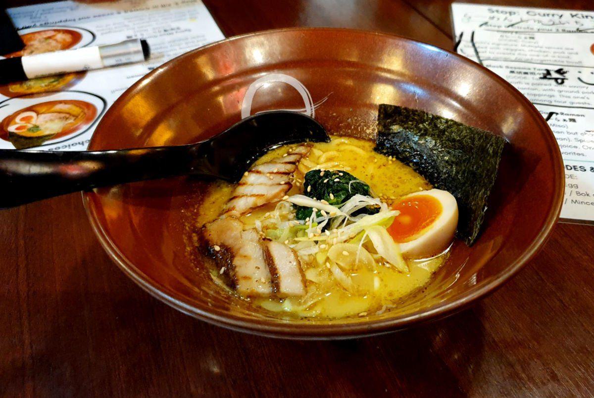 Tokyo Ramen Tour Stop 2 - Signature Curry Ramen with Pork. Yum!