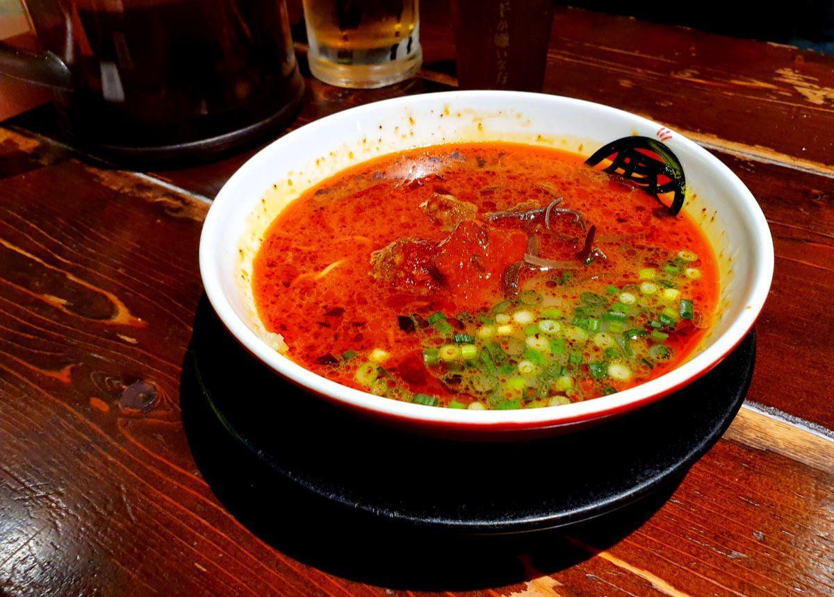Tokyo Ramen Tour Stop 3 - Red Ramen Bowl (think extra spicy with yakiniku sauce)