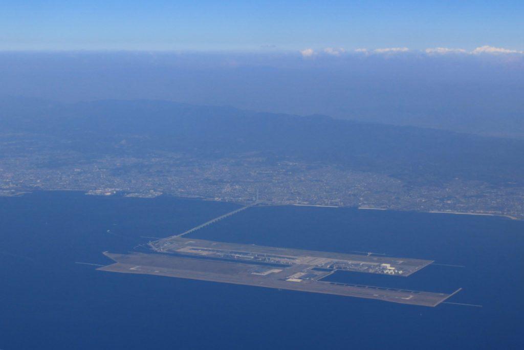 Aerial View of Kansai International Airport near Osaka