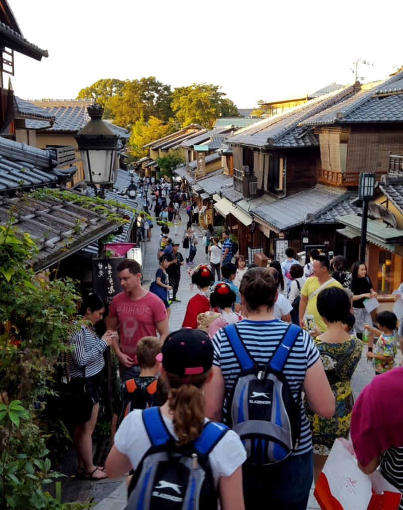 Exploring Gion in Kyoto in the evening