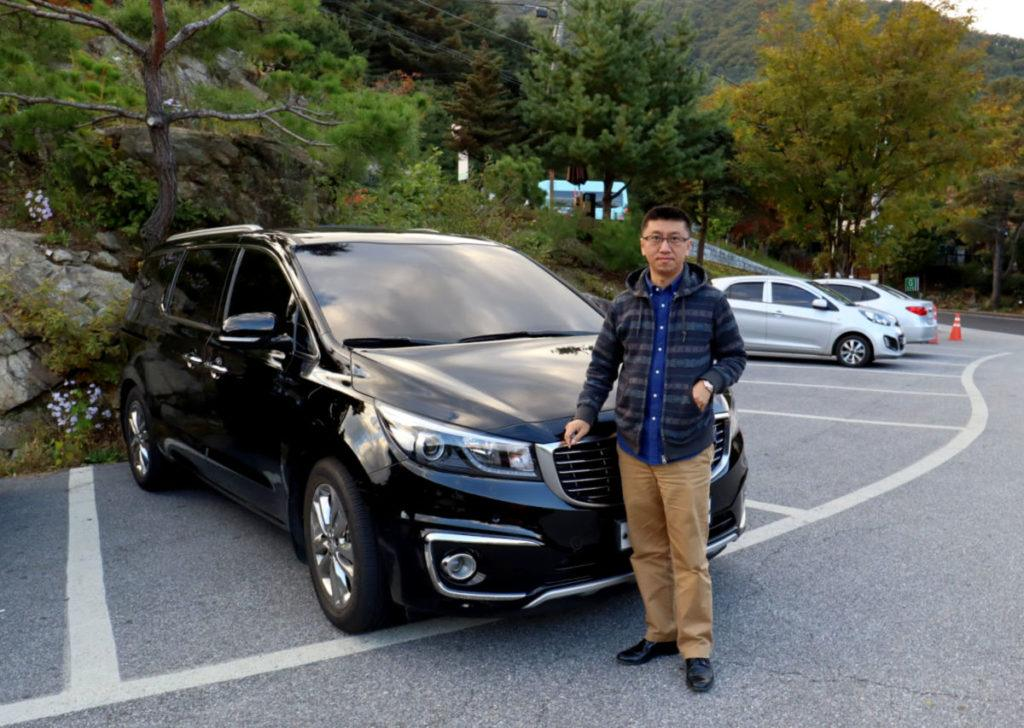 Our Driver and Luxurious Vehicle for our Nami Island Day Tour through Klook
