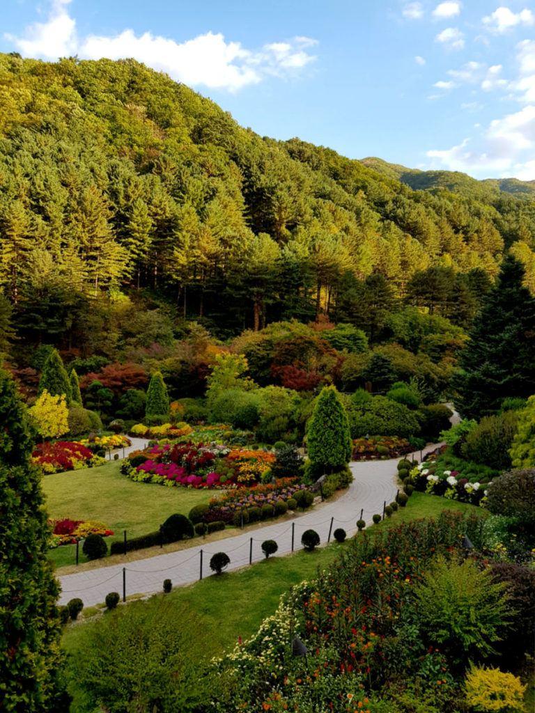 Views of The Sunken Garden in The Garden of Morning Calm
