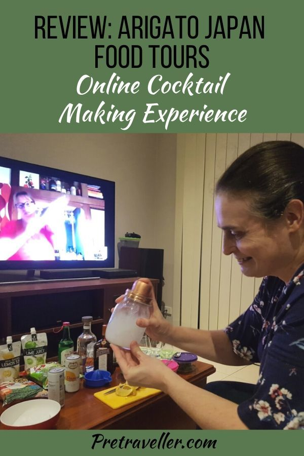 Review - Arigato Japan Food Tours Online Cocktail Making Experience