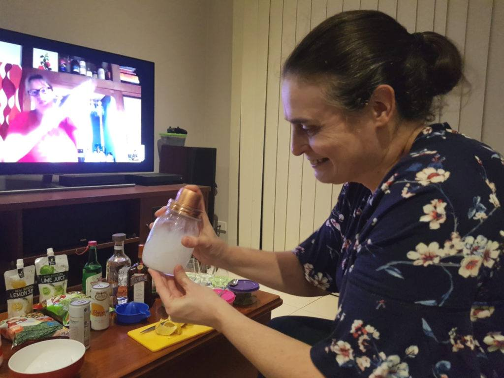 Shaking Cocktails together with Lauren from Arigato Japan Virtual Tours