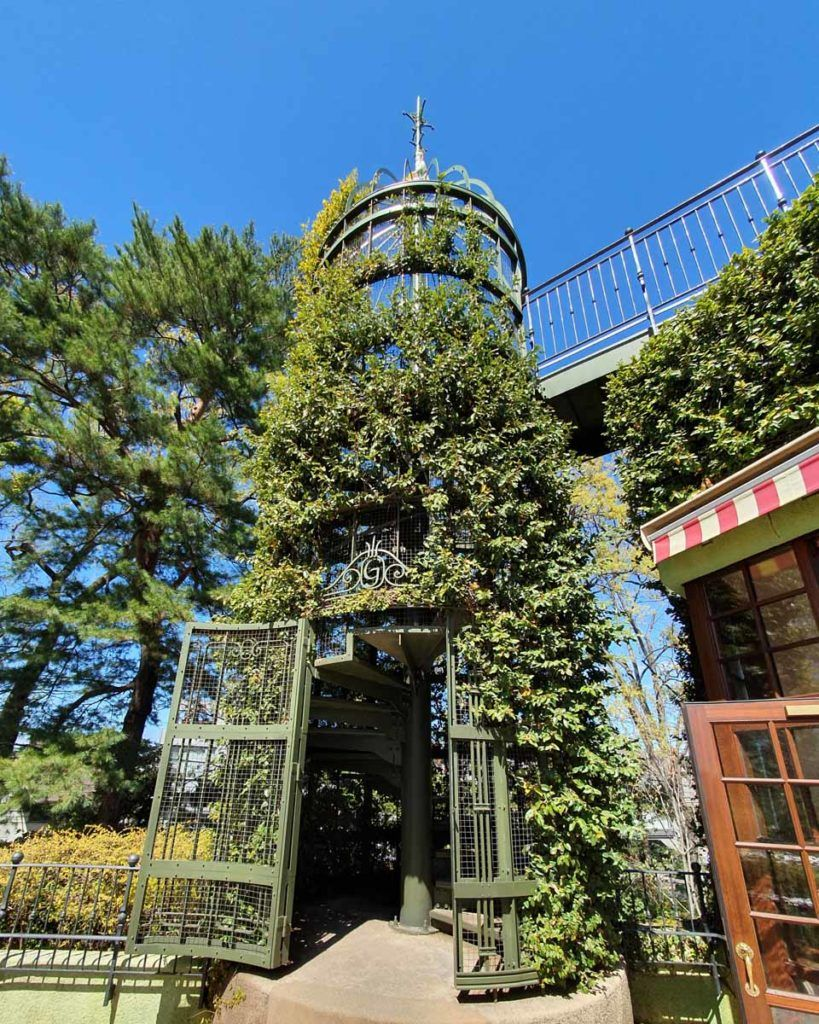 Spiral Staircase at the Ghibli Museum