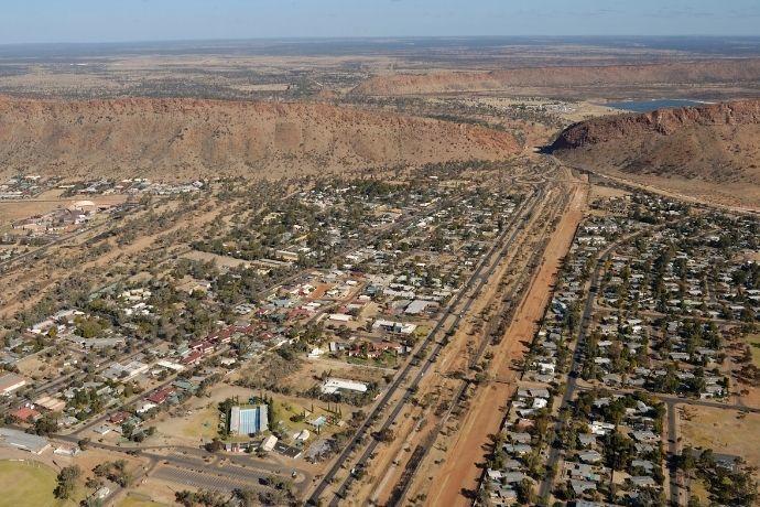 Aerial View of Alice Springs